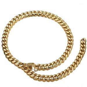 DHgate 13/15/17/19mm xxxtentacion adjustable choker tail hip hop rapper stainless steel silver color mens cuban curb chain necklace1