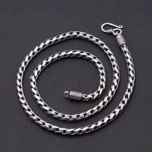 DHgate chains fashion s925 sterling silver retro thai vintage punk style custom made jewelry chiang mai handmade necklace men and women