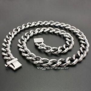 "DHgate 18"" ~ 36"" 316l stainless steel cool mens biker rocker necklace chain 5c016n"
