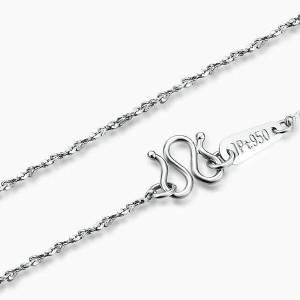 DHgate fine pure platinum pt950 chain women full star link necklace 18inch 2-2.5g