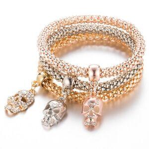 DHgate charm bracelets skull bracelet female femme bangles for women accessories jewelry couple men multilayer bangle charms