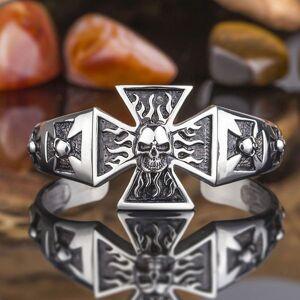 DHgate bangles bracelet kalen titanium steel boys cool skull cross totem men's headwear