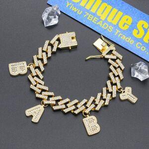 DHgate 15mm 100% cz zircon hip hop iced out baby letter charms bracelet wholesale unique star angel bracelets jewelry drop link, chain