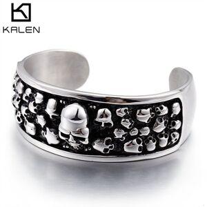 DHgate bangles bracelet jewelry titanium steel punk skull men's