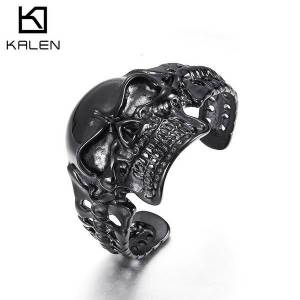 DHgate bangles bracelet atmospheric men's stainless steel jewelry domineering punk style skull titanium