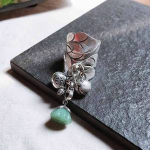 DHgate jade pith lotus seed, chiang mai , guochao dign, women's gift ornament ring