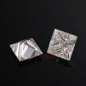 DHgate princess cut d color moissanite loose diamond with box and certification for rings vvs1 gemstones excellent pass moissantester