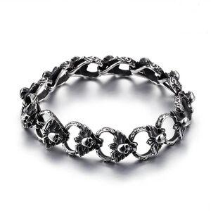 DHgate link, chain fasahion vintage punk skull charm bracelets men stainless steel link bracelet & bangle male rock drop jewelry