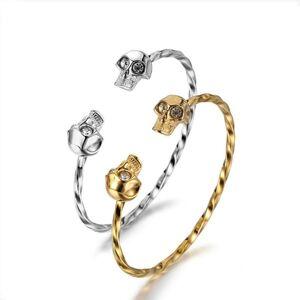 DHgate bangle punk style elegant skull design open bracelet for women's jewelry charm bracele wristbands making gift girls