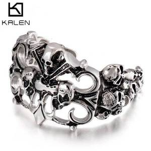 DHgate bangles bracelet personalized men's stainless steel jewelry fashion trend skull titanium open