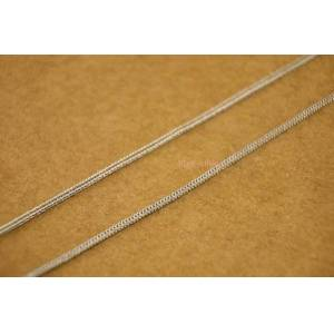 """DHgate chains 925 sterling silver 0.9mm - 1mm foxtail chain necklace 16"""" 26"""" men women a2420"""