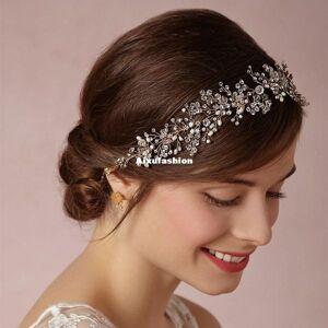 DHgate 2017 silver/gold high-end tiara luxury bridal headband handmade headdress wholesale pearl hair jewelry wedding hair accessories crown tiaras