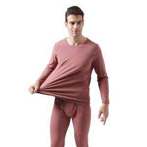 DHgate plus size mens long johns winter dralon heating super warm large elastic thermal underwear set sleepwear pajamas fleece set