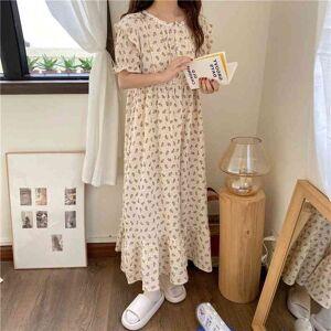 DHgate women's sleepwear summer loose pajamas outwear cotton sweet florals princess printed chic homewear night 0c6n