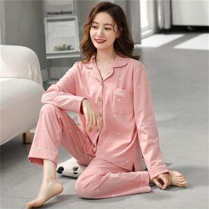 DHgate women's sleepwear pijama mujer invierno 2021 cotton women's pajamas set cartoon print home clothes plus size sleepwear long sleeve