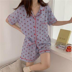 DHgate women's sleepwear homewear florals comfortable summer 2021 chic femme sweet girls casual cotton soft loose pajamas sets 3hx1