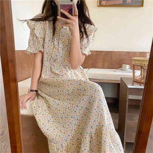 DHgate women's sleepwear florals princess outwear cotton summer loose pajamas sweet printed chic homewear night nye1