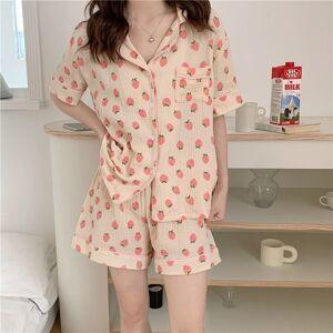 DHgate women's sleepwear korean all match 2021 girls linen cotton femme chic loose printing homewear two piece pajamas sets 7l5p