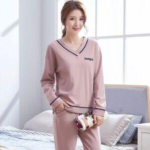 DHgate women's sleepwear pajamas set v neck casual loose home wear suit spring autumn cotton pyjamas female winter loungewear pijamas jdi
