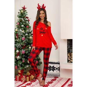 DHgate 20212021 autumn winter women christmas homewear female letter long sleeve plaid pants casual o-neck pyjama 2 pieces sleepwear