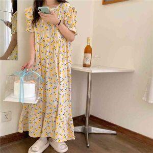 DHgate women's sleepwear prairie style florals pajamas holiday prom outwear princess printed chic homewear night ykqb