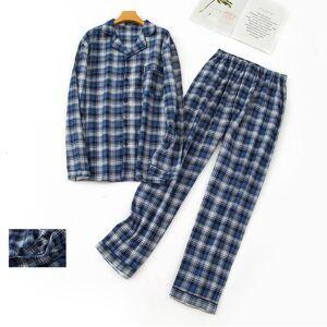 DHgate women's sleepwear plaid 100% brushed cotton pajamas sets mens autumn long-sleeve sleepwear for male plus size pijamas hombre