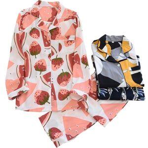DHgate women's sleepwear 2021 spring new cotton household clothes long-sleeved cardigan+pants 2pcs pajamas set autumn thin soft rayon f6j