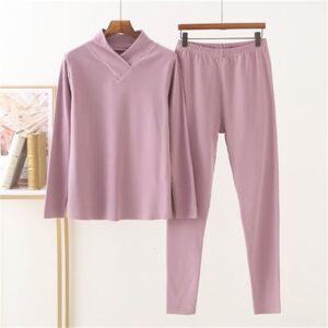 DHgate women's sleepwear pyama woman set 2021 spring autumn home clothes casual v neck velvet thicken sleepwear pajamas winter bottoming wear