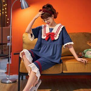 DHgate 2021 pajamas new ladies spring and summer seasons pure cotton nightdress trousers pajamas sweet bow pajamas set/night sleepwear