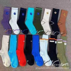 DHgate new cup socks men's and women's same towel bottom embroidered middle tube socks outdoor sports socks 4aoc