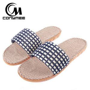 DHgate summer male beach sandals 2020 big size men indoor shoes flax home slippers silent sweat sandalia hombre casual sneakers