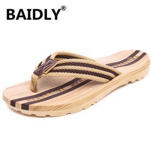 DHgate men flip flops summer beach slippers men's slippers fashion indoor & outdoor flip flops men non-slide casual