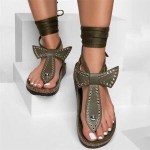 DHgate women's summer shoes new flat sandals open-toe fashion butterfly decoration casual tie rivet 2020 women platform sandals