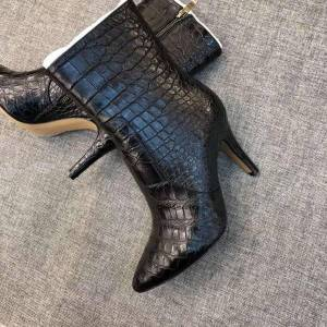 DHgate chue women boots ladies boots crocodile leather women high heels leather shoes female
