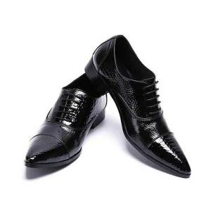 DHgate 2020 chaussures hommes fashionable black-quality leather flats pointed toe shoes for men slip formal prom dress 2119
