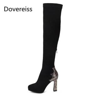 DHgate winter for woman new fashion consice new boots suede back zipper special-shaped heels ankle boots over the knee