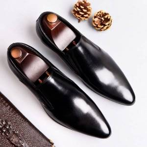 DHgate casual male great size formal office business dress comfortable cow leather shoes slip-on lazy oxfords shoe moccasins woit