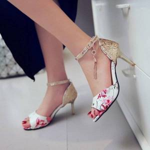 DHgate big size 11 12 13 14 15 high heels sandals women shoes woman summer ladies the fish's mouth little round head fine with sandals1