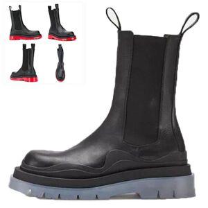 DHgate 2021 new logo bottega-booties tire boots man women platform chunky boot lady boot luxury designer women boots mid-calf designer boots 39--45