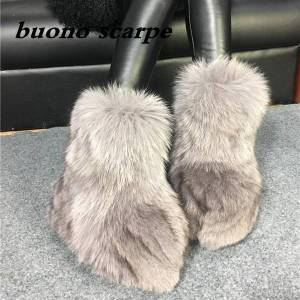 DHgate winter new hair fur integrated thick women's boots thick soles increased leather women's shoes warm winter snow ground