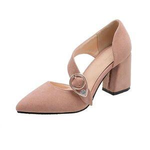 DHgate dress shoes fashion 2021 platform wedding woman square high heels 7.5cm pumps party women big size 32-46 20-2