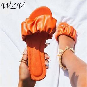 DHgate summer 2021 new african style fold leather outdoor slippers wild beach non-slip women flat slippers casual durable sandals women