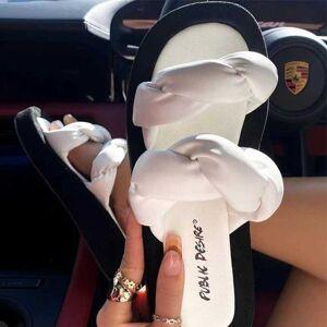 DHgate sandals 2021 vivaia summer plus size platform woven slippers flat beach and women