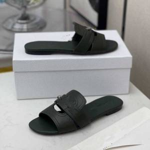 DHgate new woman slipper designer slipper superior quality genuine leather fashion casual slipper sandy flip flops size 34-43 qc1207