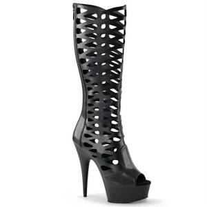 DHgate boots 15cm hollow back zipper high-heeled steel pipe dance thin heeled fashion trend high tube