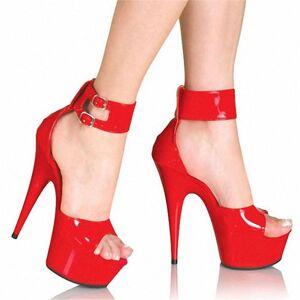 DHgate dress shoes 2021 summer women sandals 15cm thin high heels fall street look pu buckle strap waterproof party wedding woman