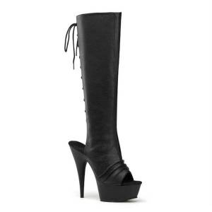 DHgate boots 15cm lace up high-heeled steel pipe dance thin heeled fashion trend fish mouth open heel