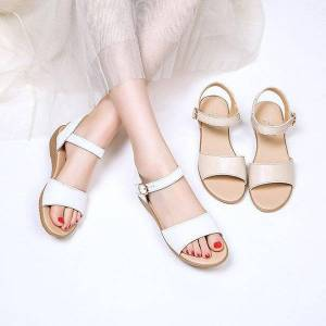 DHgate summer sandals female korean version of the fashion wild flat bottom wedge casual simple