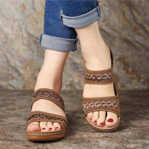 DHgate sandals women fashion wedges shoes for slippers summer with heels flip flops beach casual