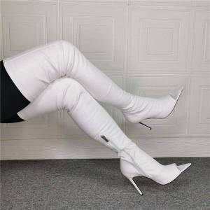DHgate boots handmade fashion women winter over the knee thin high heels nice peep toe gorgeous party shoes us size 5-15